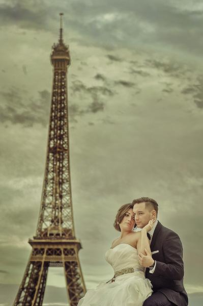 Sesja plenerowa w Paryżu
