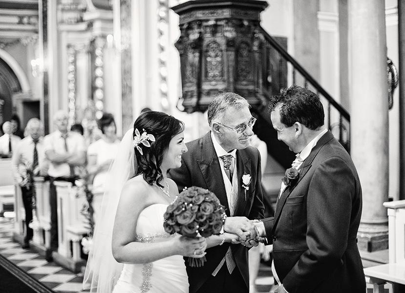 Odpowiedni kąt podczas ślubu