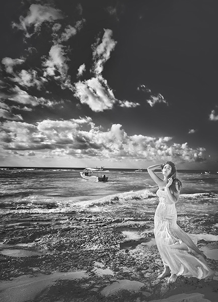 Fotografowanie przy mocnym słońcu - plener ślubny w Meksyku
