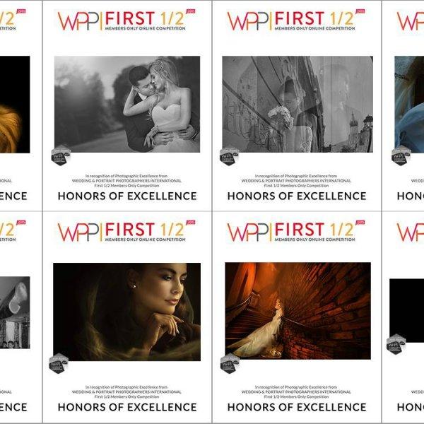 "Osiem nagród ""Silver Award – Honors of Excellence"" i tytuł ""Associate of WPPI"""