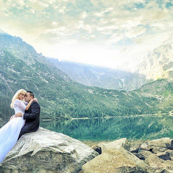 Plener ślubny nad Morskim Okiem - sesja plenerowa Morskie Oko | Wedding photographer in Morskie Oko