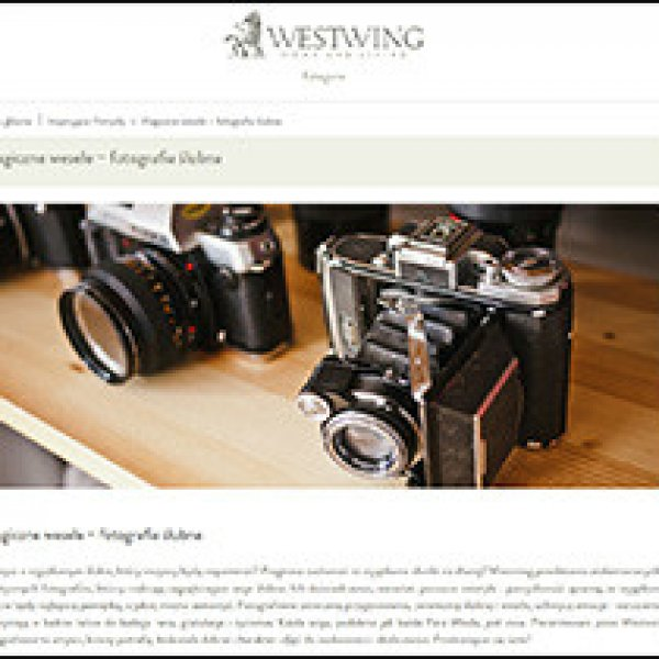 Wśród rekomendowanych przez Westwing fotografów ślubnych