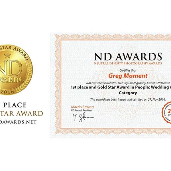 I miejsce w konkursie ND Photography Awards 2016