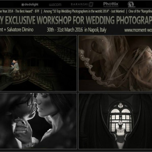 Workshop for wedding photographers: Greg Moment + Salvatore Dimino together!